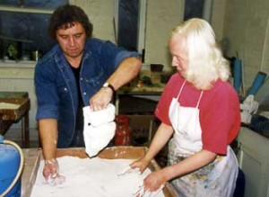 Joy Godfrey Making the Cast - Bronze Casting