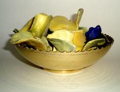 Crisps with Blue Salt