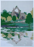Bolton Abbey Limited edition silkscreen print, 1979