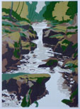 The Strid  Limited edition silkscreen print, 1979