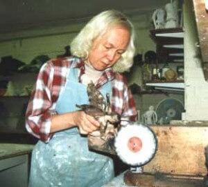 Joy Godfrey finishing and patination - Bronze Casting