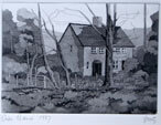 Cottage in Wales Etching, 1986