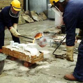 Bronze Casting Step 3 – Pouring The Bronze
