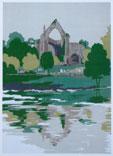 Bolton Abbey Limited edition silkscreen print, 1979